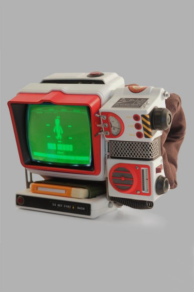 FALLOUT REPLICA PIP-BOY 2000 MK IV PRE-ASSEMBLED RED ROCKET
