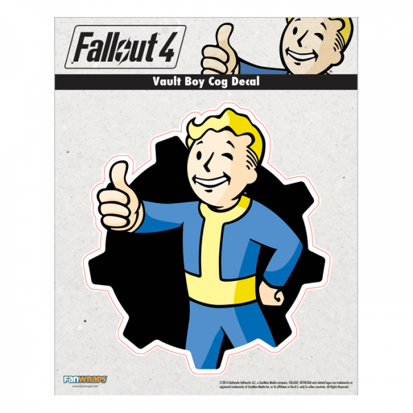 FALLOUT 4 DECAL VAULT BOY COG