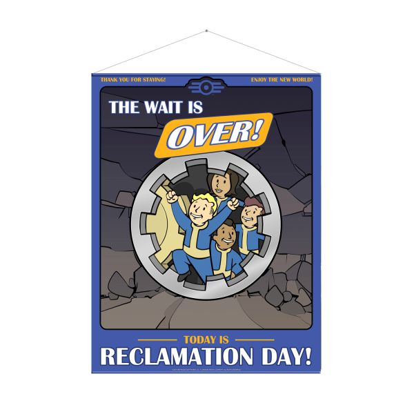 FALLOUT 76 WALLSCROLL RECLAMATION DAY