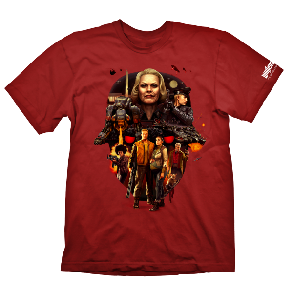 WOLFENSTEIN 2 T-SHIRT FACE OF DEATH