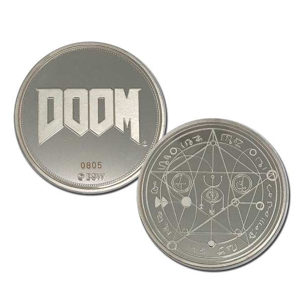 DOOM COLLECTIBLE COIN PENTAGRAM