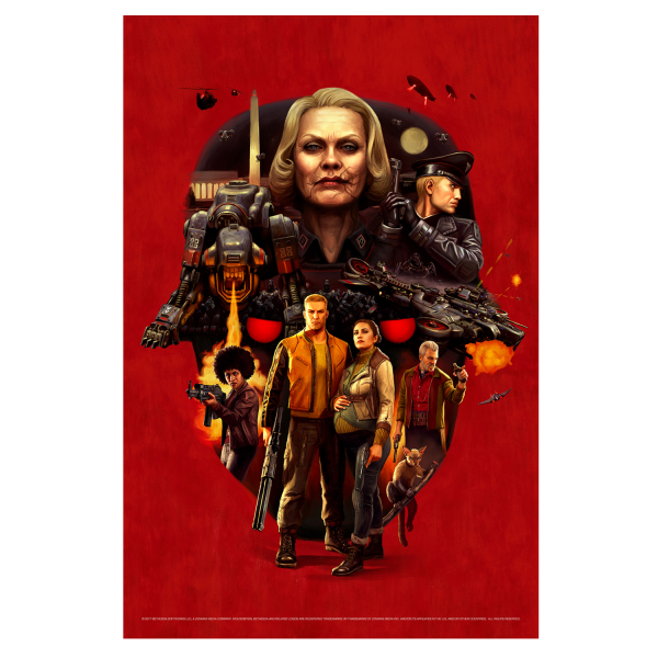 WOLFENSTEIN 2 POSTER FACE OF DEATH
