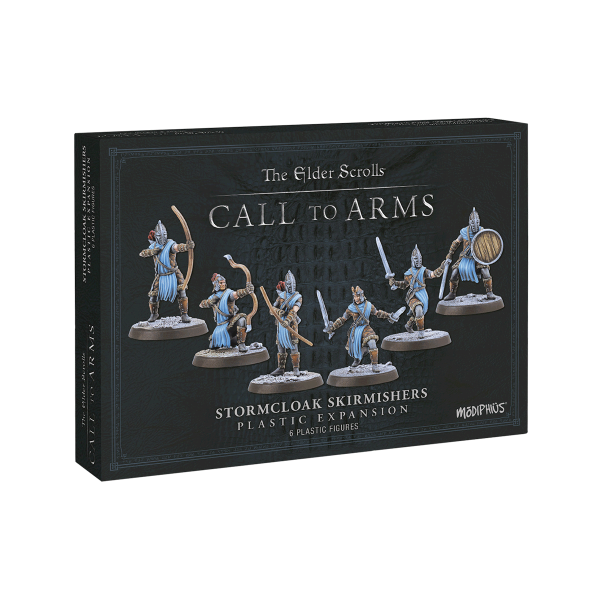 """The Elder Scrolls Call to Arms """"Espansione in resina Manto della Tempesta (Stormcloak Skirmishers Resin Expansion)"""""""