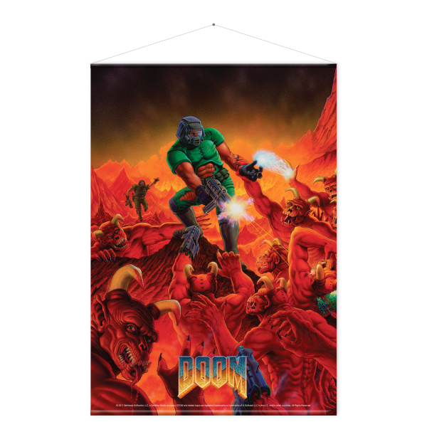 Doom Wallscroll Retro