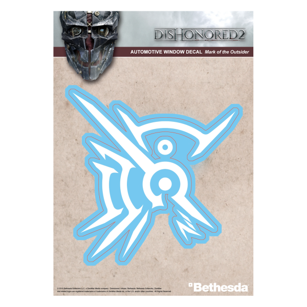 DISHONORED 2 DECAL MARK OF THE OUTSIDER WHITE