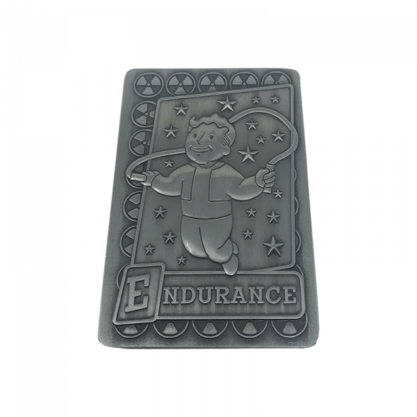 FALLOUT COLLECTIBE METAL PERK CARD ENDURANCE