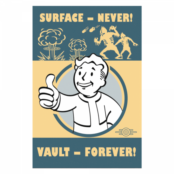 FALLOUT 4 METAL SIGN VAULT FOREVER