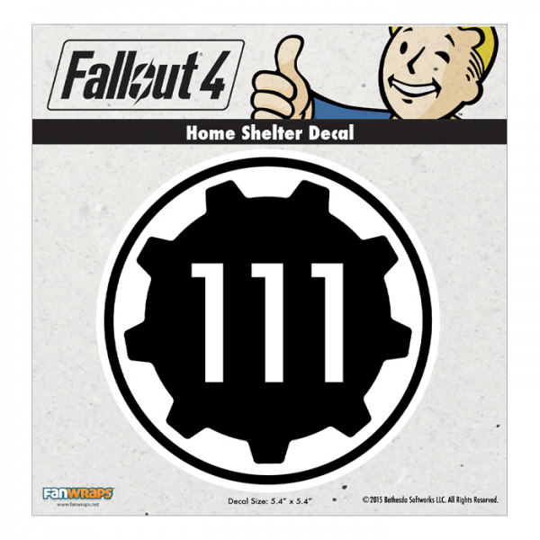 FALLOUT 4 DECAL HOME SHELTER 111