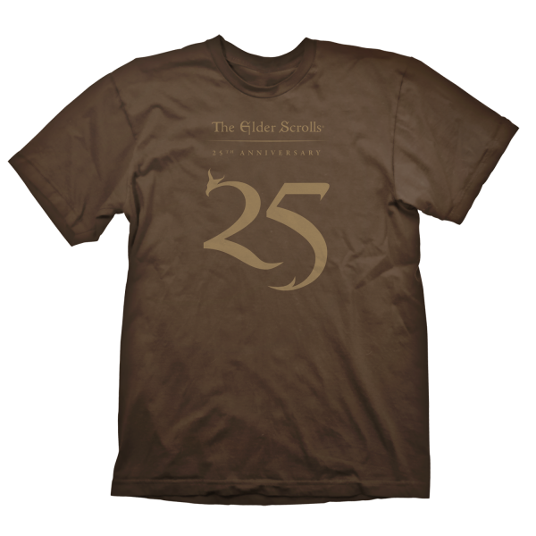THE ELDER SCROLLS T-SHIRT 25TH ANNIVERSARY BROWN