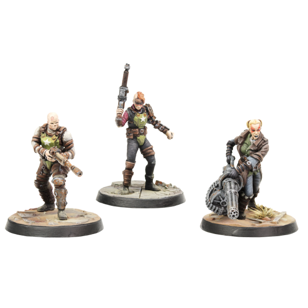 FALLOUT WASTELAND WARFARE MINIATURES ACKACK SINJIN AND AVERY