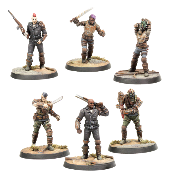 FALLOUT WASTELAND WARFARE MINIATURES RAIDERS SCAVVERS PSYCHO