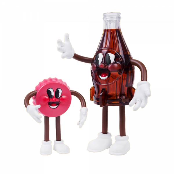 FALLOUT FIGURE BOTTLE AND CAPPY BENDABLES