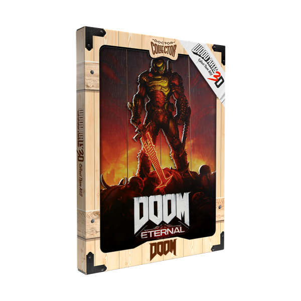 "Doom Eternal WoodArts ""Key Art"" 3D Print"