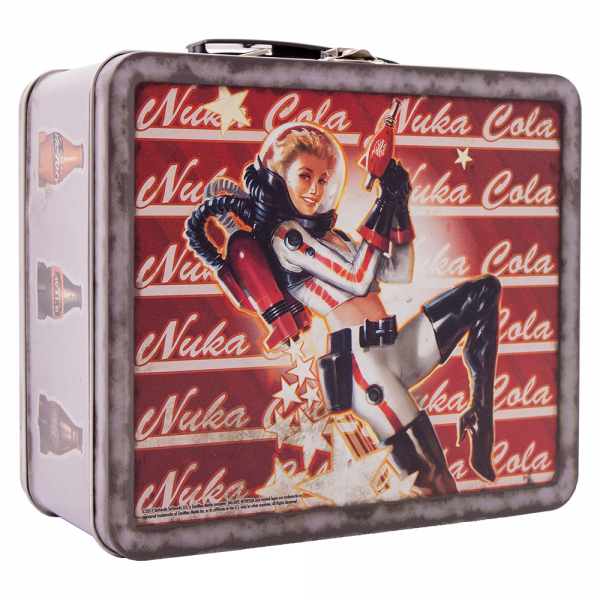 FALLOUT 4 TIN TOTE NUKA PIN-UP