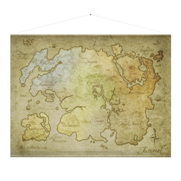 The Elder Scrolls Online Wallscroll Map
