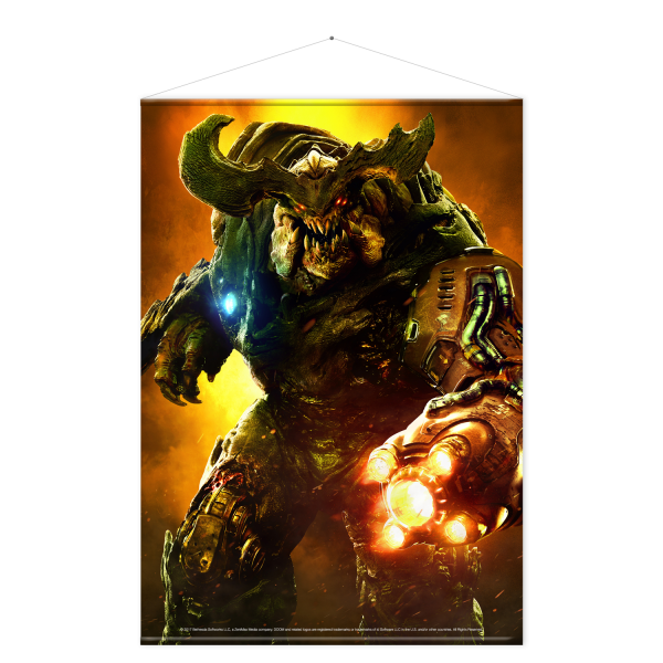 Doom Wallscroll Cyberdemon