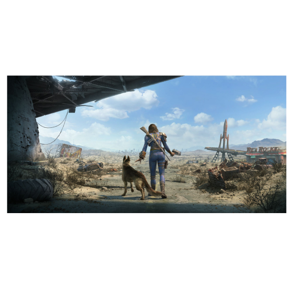 FALLOUT 4 WALL DECAL SOLE SURVIVOR AND DOGMEAT