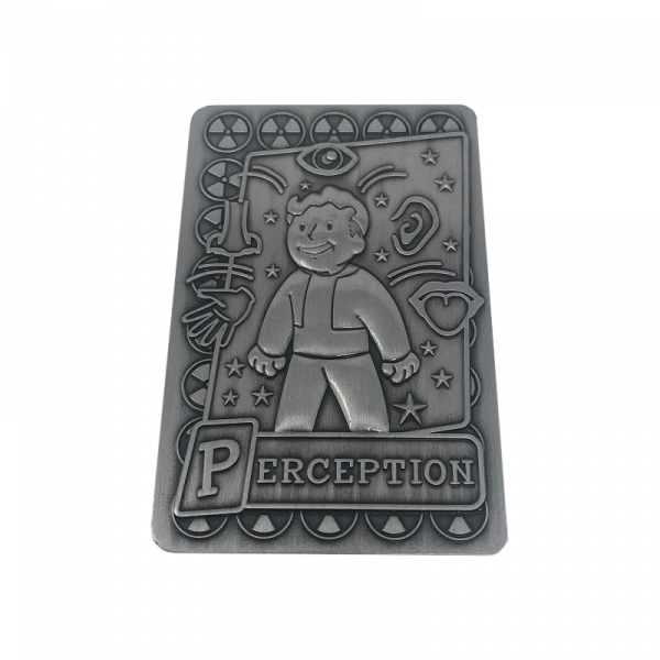 FALLOUT COLLECTIBE METAL PERK CARD PERCEPTION