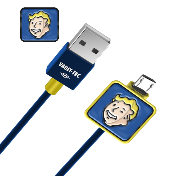 FALLOUT USB CHARGING CABLE VAULT BOY