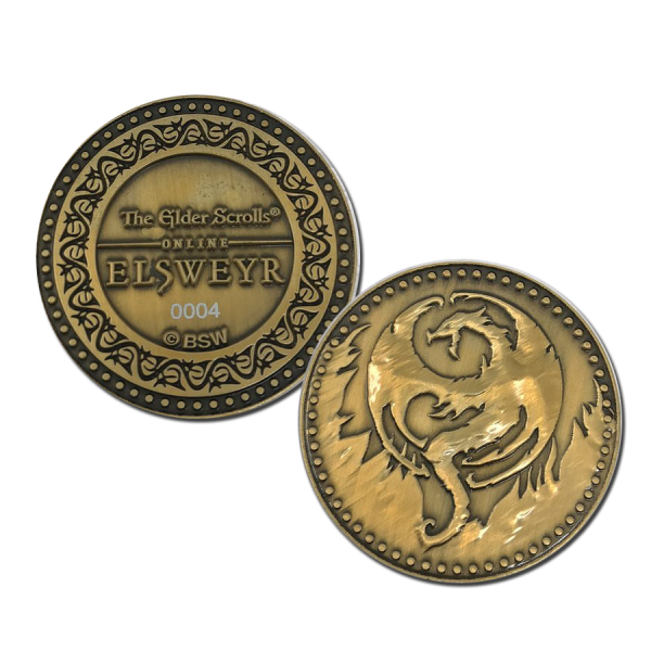 THE ELDER SCROLLS ONLINE COLLECTIBLE COIN ELSWEYR