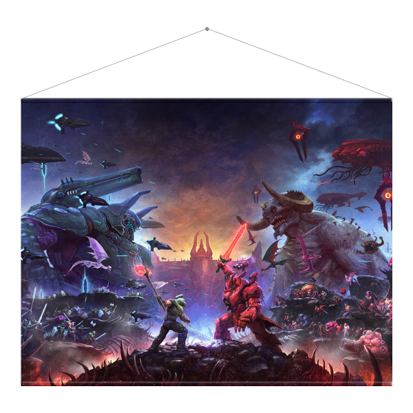 "DOOM Eternal Wallscroll ""The Ancient Gods"""