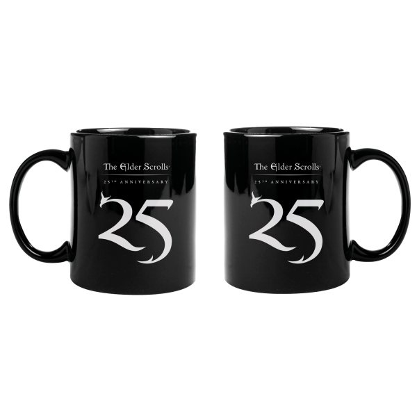THE ELDER SCROLLS MUG 25TH ANNIVERSARY LOGO