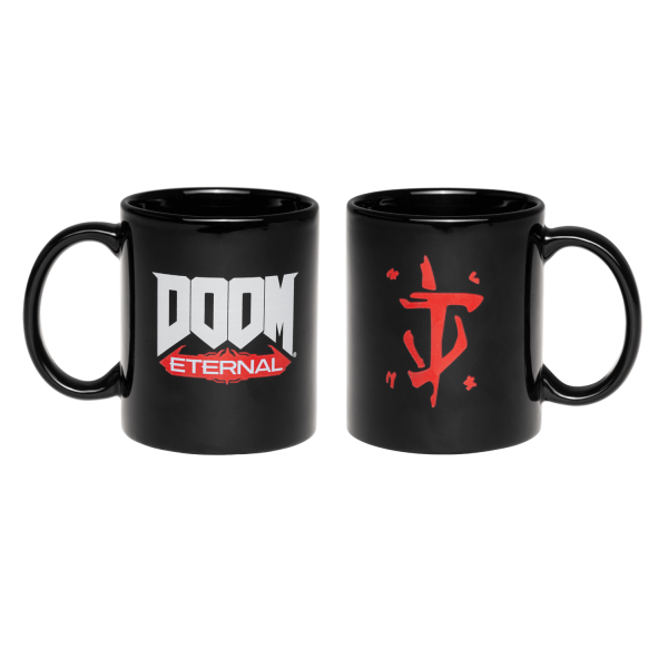 Tasse noire DOOM Eternal - logo Eternal