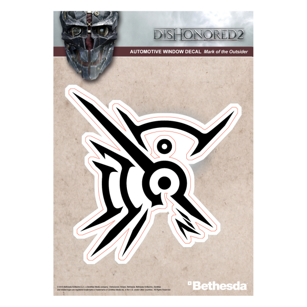DISHONORED 2 DECAL MARK OF THE OUTSIDER BLACK