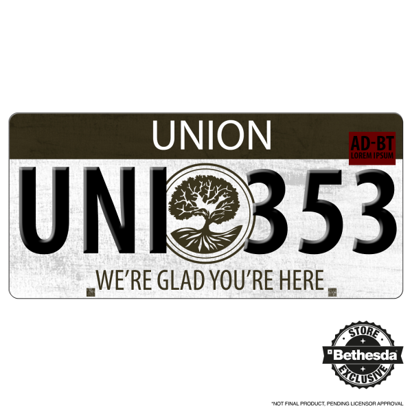 THE EVIL WITHIN 2 LICENSE PLATE UNION