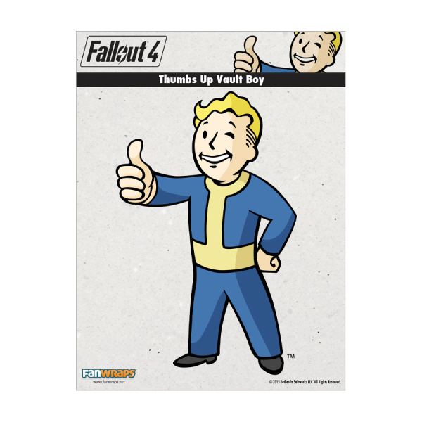 FALLOUT 4 DECAL THUMBS UP VAULT BOY
