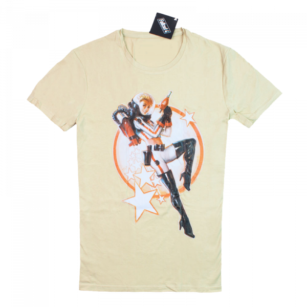 Fallout T-Shirt Nuka Cola Pinup Beige