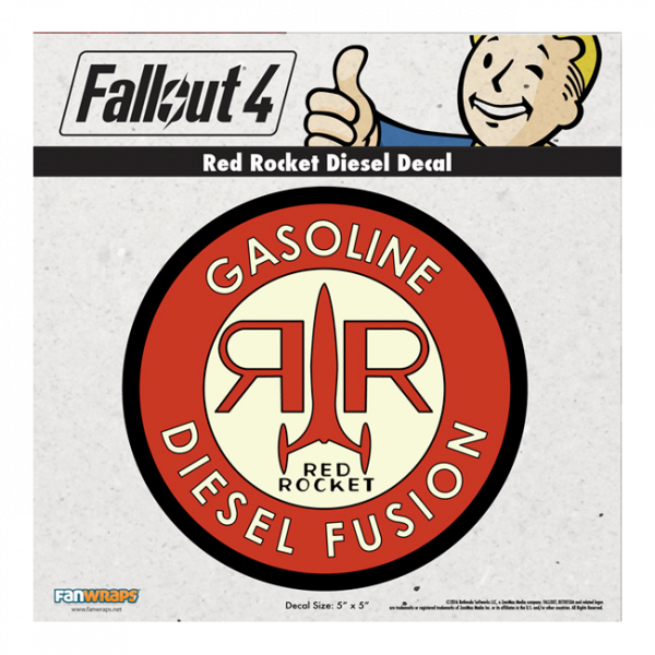 FALLOUT 4 DECAL RED ROCKET DIESEL