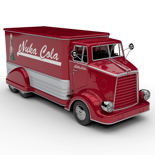 FALLOUT REPLICA NUKA COLA DELIVERY TRUCK DIE-CAST